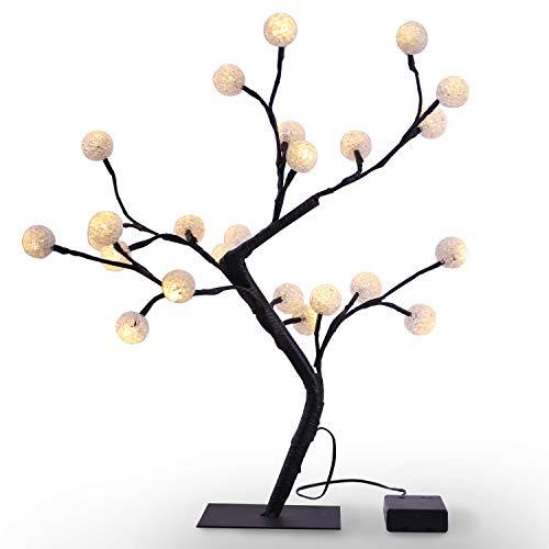 Led Weihnachtsbeleuchtung Baum.Decoking 47484 24er Led Baum Warm Weiß Lichterbaum Lichterzweig