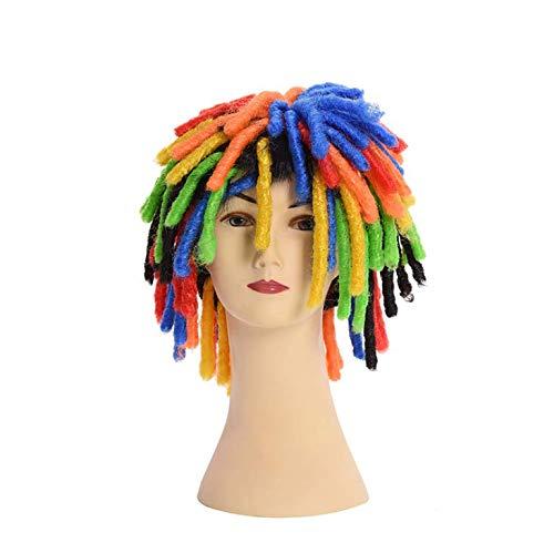 Perücke Clown Hut Mode Farbe schmutzig schmutzig Show Leistung Requisiten cos lustige Kopfbedeckung Fan gefälschte Kopfbedeckung - Farbe