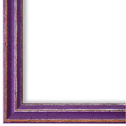 Online Galerie Bingold Bilderrahmen Lila Violett DIN A4 (21,0 x 29,7 cm) cm DINA4(21,0x29,7cm) - Modern, Shabby, Vintage - Alle Größen - handgefertigt in Deutschland - WRF - Cosenza 2,0