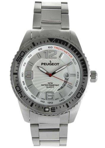 Peugeot 1030S–Wristwatch Men's, Stainless Steel Silver Strap