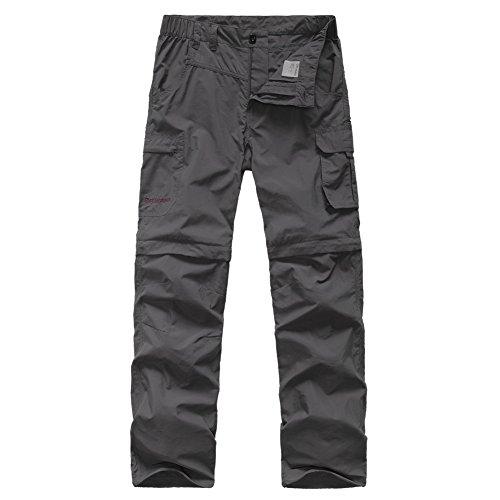 GITVIENAR Pantaloncini da Arrampicata da Escursionismo Removibili Traspiranti Estivi a Due Pezzi per Uomo