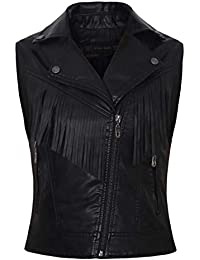 wholesale dealer 9e1e3 3bd1f Amazon.it: gilet pelle - Donna: Abbigliamento