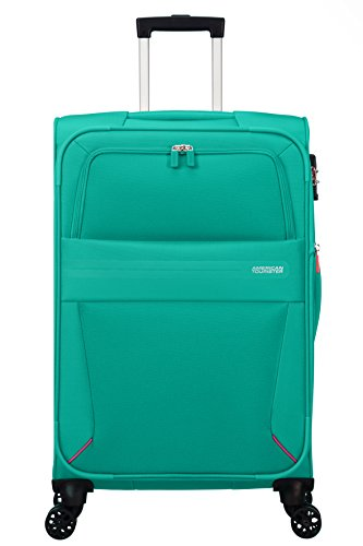 American Tourister Summer Voyager Spinner 68/25 Espandibile 67.5 L, 3.3 KG Bagaglio a mano, 68 cm, Verde (Peacock Green)