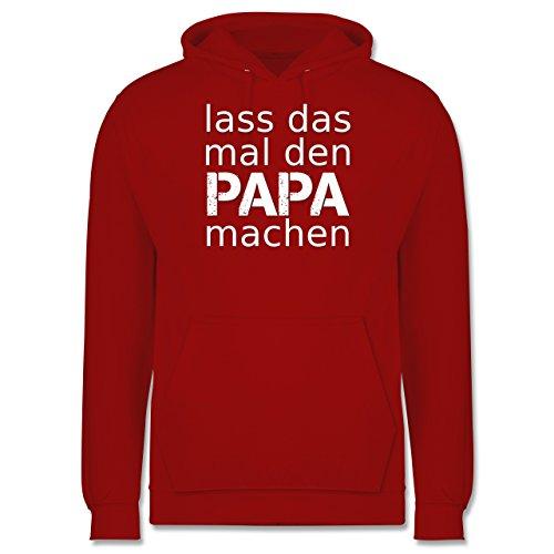 Vatertag - Lass das mal den Papa machen - Männer Premium Kapuzenpullover / Hoodie Rot