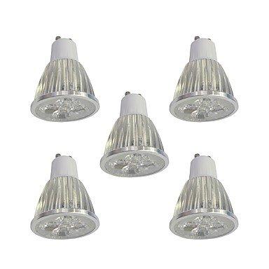 5 Stück 5W GU10 LED Spot Lampen 5 Leds Hochleistungs - LED Abblendbar Weiß 400lm 6000K 110-120V -
