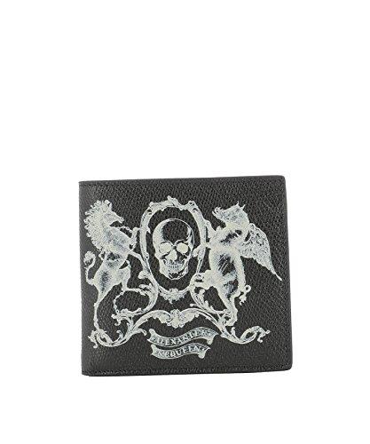 Alexander-Mcqueen-Mens-338833D930N1082-Black-Leather-Wallet