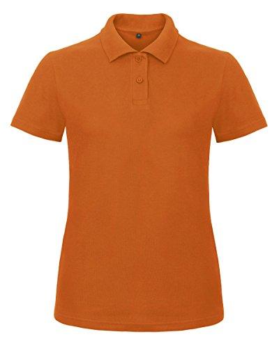 B&C Damen Poloshirt Orange