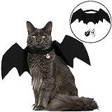 Angshop Fledermaus-Kostüm für Katzen, Fledermaus, Flügel, Haustierkostüm, mit Zwei Totenkopf-Glocken