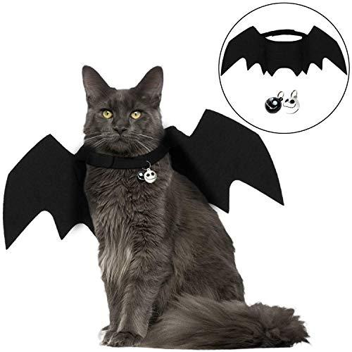 ostüm für Katzen, Fledermaus, Flügel, Haustierkostüm, mit Zwei Totenkopf-Glocken ()