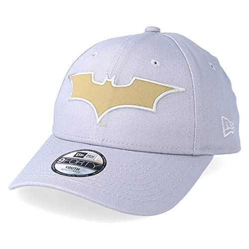 New Era Batman Grey Gold Character 9Forty Cap Youth Jugendliche (New Era-mütze 7 3 4)