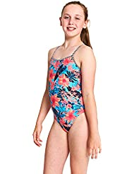 Zoggs Girls' Wunderlust Yaroomba Floral One Piece Swimsuit