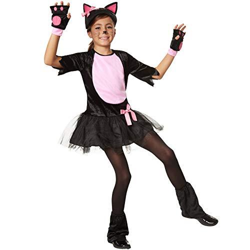 dressforfun 900472 - Mädchenkostüm pinkes Samtpfötchen, Katzenkostüm aus -