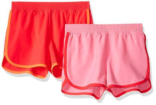 Amazon Essentials Mädchen-Shorts, Active Wear, 2er-Pack, Pink/Light Pink, US L (EU 134-140 CM)