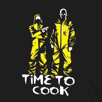 Time to Cook - Stofftasche / Beutel Grau