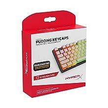 HyperX Pudding Keycaps - Full Key Set - PBT - White - English (US) Layout - 104 Key, Backlit, OEM Profile