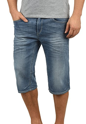Blend denon pantaloncini di jeans shorts bermuda da uomo elasticizzato regular- fit, taglia:l, colore:denim lightblue (76200)