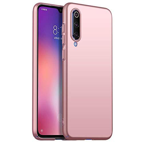 Funda Compatible con Xiaomi Mi 9 Se, Ultra Delgado Mate Plástico Duro PC Antideslizante Anti-Arañazos Anti-Rasguños Cárcasa Parachoques Teléfono Caso - Oro Rosa