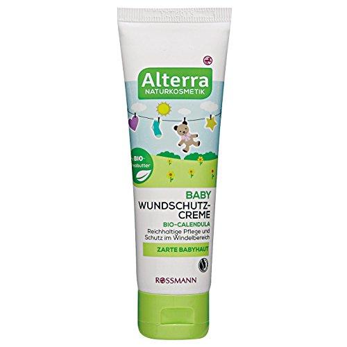 Alterra Baby Wundschutz-Creme 75 ml für zarte Babyhaut, mit Bio-Calendula & Bio-Sheabutter, reichhaltige Pflege & Schutz im Windelbereich,...
