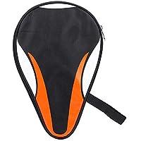 Bolso de Raqueta de Tenis de Mesa, Oxford Impermeable a Prueba de Polvo Protección Completa Funda de Paleta de Ping Pong Bolsa Organizador de Tenis de Mesa Funda de Transporte(Naranja)
