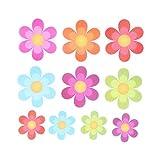 TOPBATHY 10 pcs Anti-Rutsch Sticker Badewanne Sticker selbstklebend für Badezimmer Badewanne Dusche Bad Blumen Form
