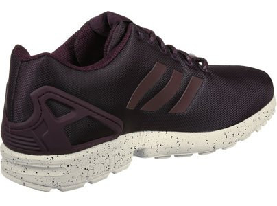 adidas ZX Flux, Baskets Basses Mixte Adulte bordeaux rouge beige