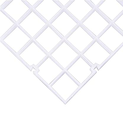 Eastar White 2pcs Grid Isolate Board Divider Fish Tank Bottom Filter Tray Aquarium Crate 2