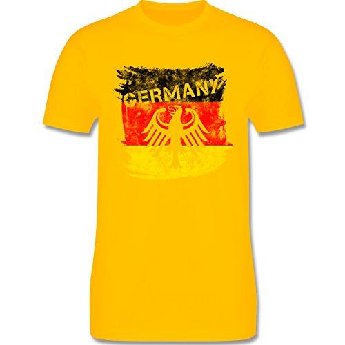 EM 2016 - Frankreich - Germany mit Adler Vintage - Herren Premium T-Shirt Gelb