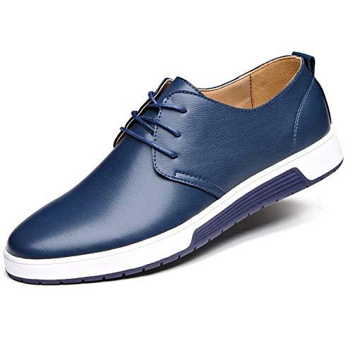 Zapatillas de Hombre de BaZhaHei, Moda Hombre Zapatos de cuero casuales Zapatos planos Zapatos de negocios zapatillas de boda Zapatos de vestir de los hombres zapatos casuales para hombre color sólido