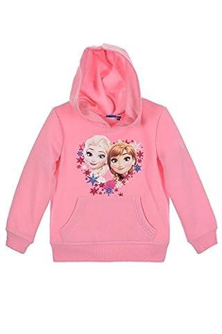 Disney Frozen Die Eiskönigin Elsa Anna (1154) - Kinder Kapuzenpullover Pullover Sweatshirt Hoody, Rosa, Größe: