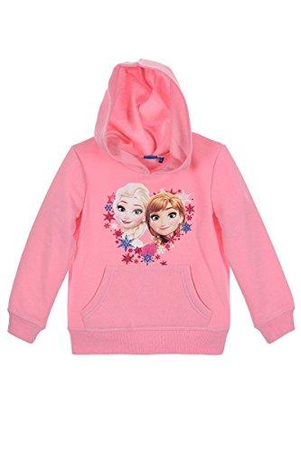 Disney Frozen Die Eiskönigin Elsa Anna (1154) - Kinder Kapuzenpullover Pullover Sweatshirt Hoody, Rosa, Größe: 128