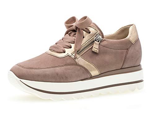 Gabor Damen Low-Top Sneaker 24.410.54, Frauen Halbschuh,Schnürschuh,Strassenschuh,Business,Freizeit,antikrosa/rame,39 EU / 6 UK