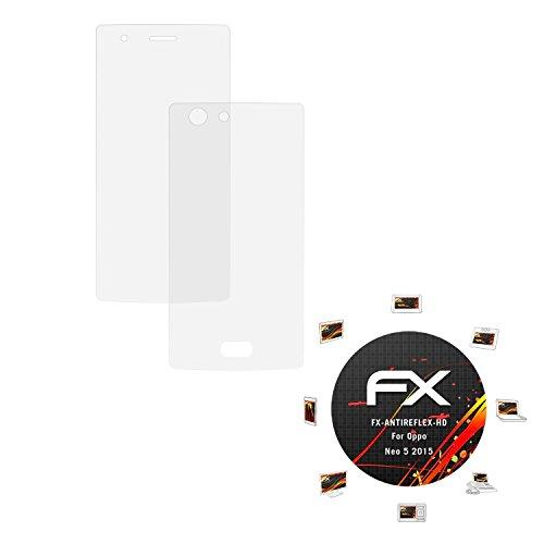 atFolix Schutzfolie kompatibel mit Oppo Neo 5 2015 Bildschirmschutzfolie, HD-Entspiegelung FX Folie (3er Set)