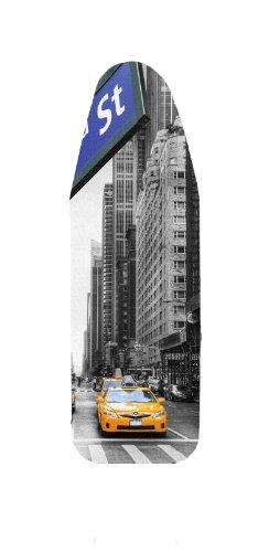 Bügelbrettbezug, Städte, Große und mittlere, 100% Baumwolle, 5 mm Schaumstoff-Polsterung (New York, 148x52)
