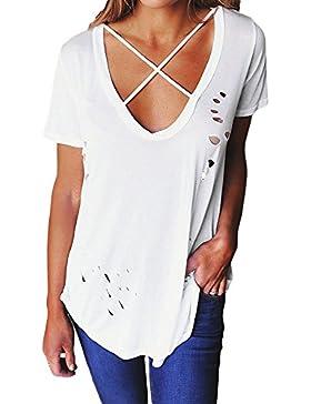 Cfanny - Camisas - Manga corta - para mujer