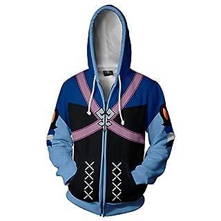 Men's 3D Printed Zipper Cardigan Akua Long Sleeve Hoodies Unisex Hooded Sweatshirts Sportswear 2XL