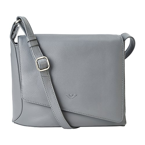 - Kalbsleder-tasche (Voi Damen Überschlagtasche Rebecca 21517 aus feinnarbiges Nappa-Kalbsleder in Rauch)