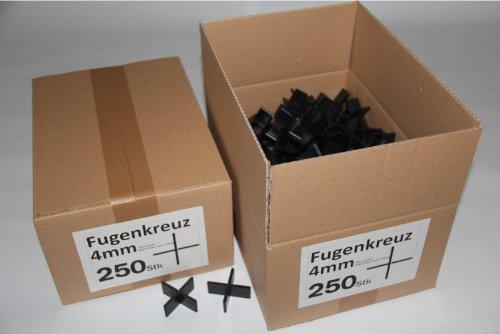 Fugenkreuze 4mm, Bauhöhe 20mm, 250 Stück im Karton