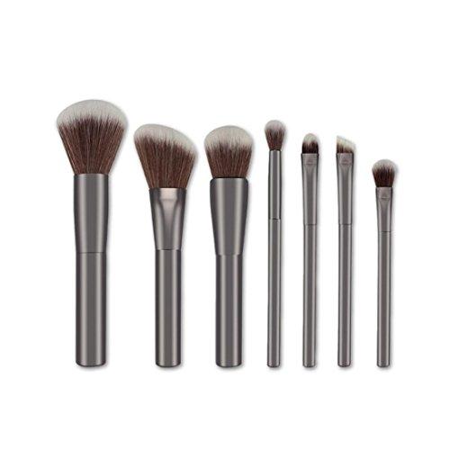 Saingace 7pcs Pinceaux de Maquillage en Poudre Brosse Sourcils Eyeliner Fard à Joues Brosses Cosmétiques Anticernes