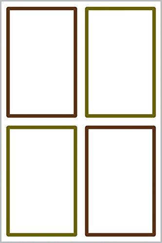 Avery Zweckform 62008 - Etiquetas para tela (varios formatos, con sello), color blanco