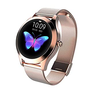 ZLOPV Pulsera Smart Watch Women 2019 IP68 Monitor de frecuencia cardíaca Impermeable Bluetooth para Android iOS Fitness Pulsera Smartwatch
