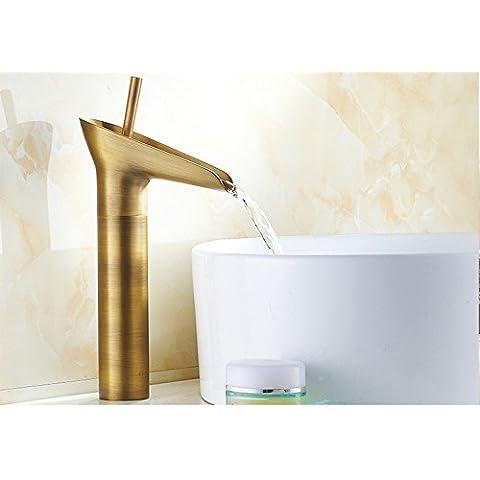 FUMIMID-Europeo antico lavabo Miscelatore manette d'oro bianco fantasia rubinetto di