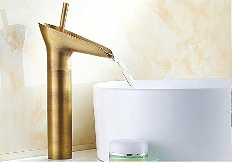 Tougmoo antique pour robinets antique Continental Lavabo un seul trou Toilettes Faucet-black robinet chaude et froide,