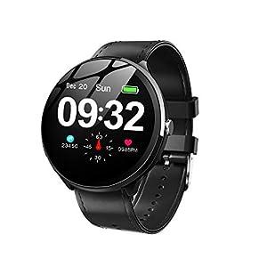 GOKOO Smartwatch Mujer, Impermeable Reloj Inteligente Elegante Monitores de Actividad Impermeable IP67 con Monitor de Sueño Pulsómetros Podómetro Contador de Caloría Compatible con iOS Android 11