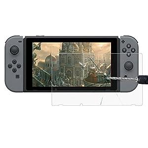 Nintendo Switch 9H Display-Schutz-Glas Displayschutz | Kristallklare Folie | Blasenfreier Bruchfester Splitterschutz | Screen- Protector | gehärtetes Glas | Langzeit Schutzfolie | Dünne kratzfeste