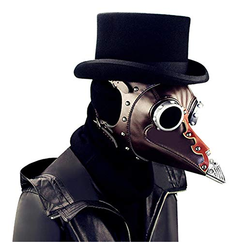 LUCKME Retro Plague Doctor Mask, Steampunk Long Nose Bird Maske Gothic Rock Prop für Masquerade Cosplay Halloween Kostüm-Party