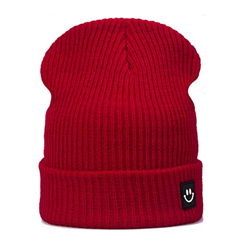 vnmxv Fashion Women Winter Hat Cap Cotton Cartoon for Boys Girls Brand Warm Beanie Skullies Hat Wholesale KItaliano, glänzend rot