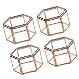 SM SunniMix 4X Hochwertig Glass Geometrische Dekoration Terrarium Behälter Topf, Ideal für Pflanzen und Kerzen