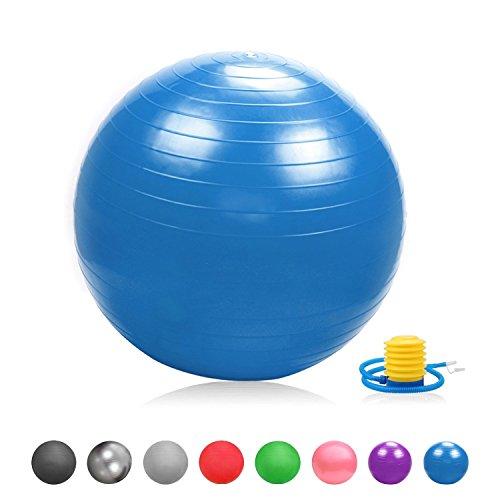 Glamexx24 Weich Gymnastikball Dick Anti-Burst Sitzball Peziball Swissball Fitnessball mit Ballpumpe