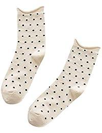 VJGOAL Moda casual de invierno para mujer Calcetines de punto de impresión cálidos Medias de tubo