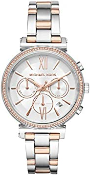 Michael Kors Sofie Women's White Dial Stainless Steel Band Watch - Mk6558, Analog Dis